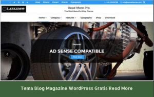 Tema Blog Magazine WordPress Gratis Read More