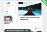 Tema Personal Blog WordPress Gratis Indite Ringan Dan Menawan