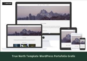 True North Template WordPress Portfolio Gratis
