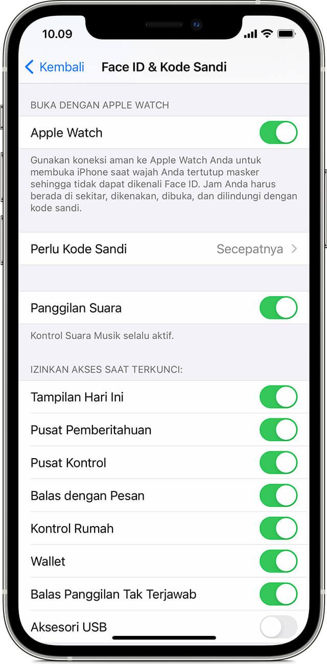 Cara Membuka Kunci iPhone Dengan Apple Watch Saat Memakai Masker
