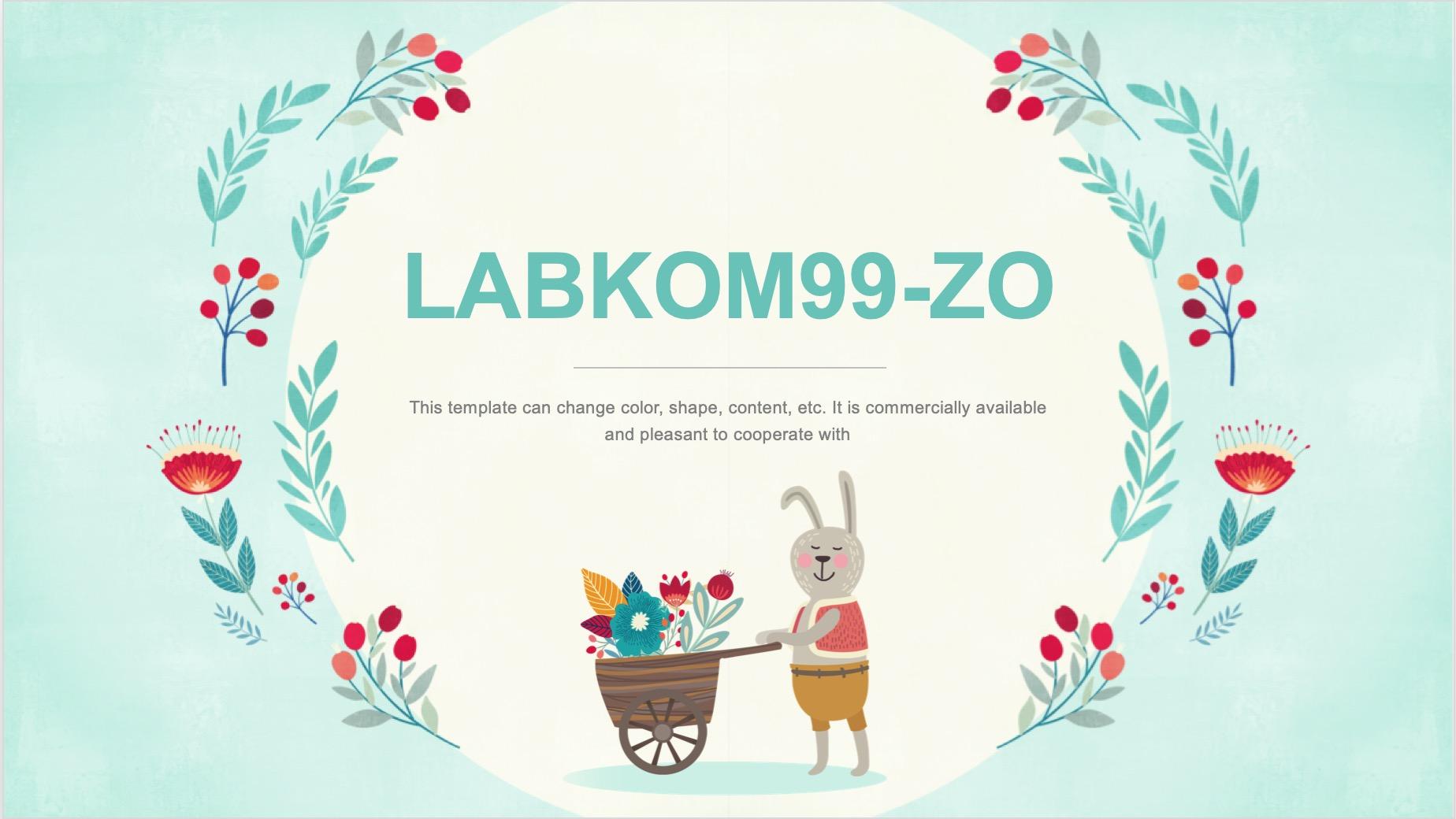 Template PPT Lucu Labkom99 Cocok Untuk Anak SD Gratis