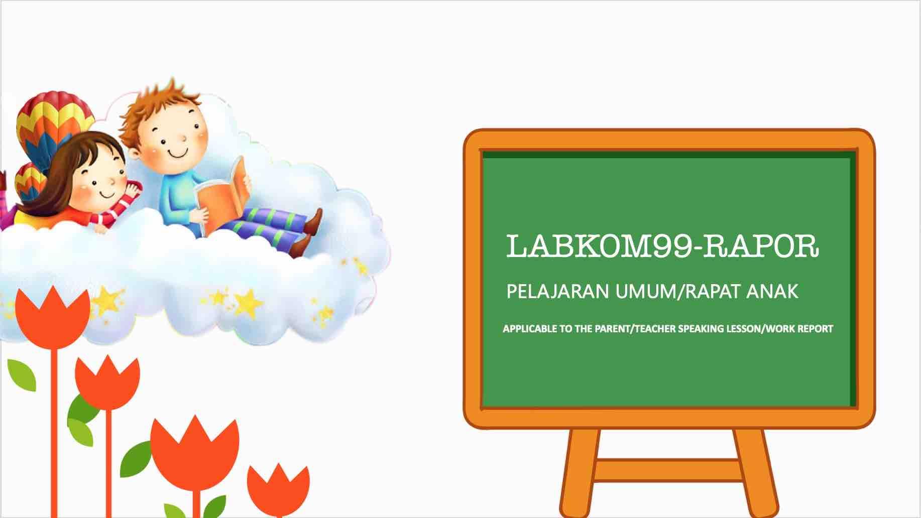 Template PPT Lucu Gratis Dari Labkom99 Cocok Untuk Anak SD