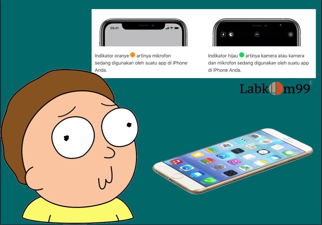 Muncul Titik Hijau Atau Titik Orange Kecil Di Layar iPhone Pada iOS 14
