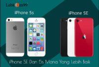 iPhone SE Dan 5s Mana Yang Lebih Baik. Dari segi layar, tampilan iPhone SE tidak mengalami perubahan signifikan dibandingkan iPhone 5s. Dari segi material, iPhone SE juga menggunakan material alumunium alloy bermutu tinggi. Dilengkapi dengan layar berukuran 4 inci 1136 × 640 piksel yang selaras dengan iPhone 5s.