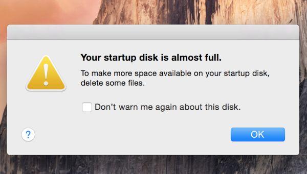 """Muncul Peringatan """" Your disk almost Full """" di Mac Kalian, Ini Cara Mengatasinya"""