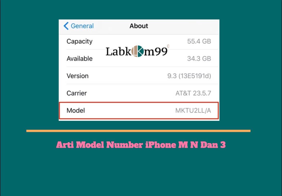 Arti Model Number iPhone M N Dan 3
