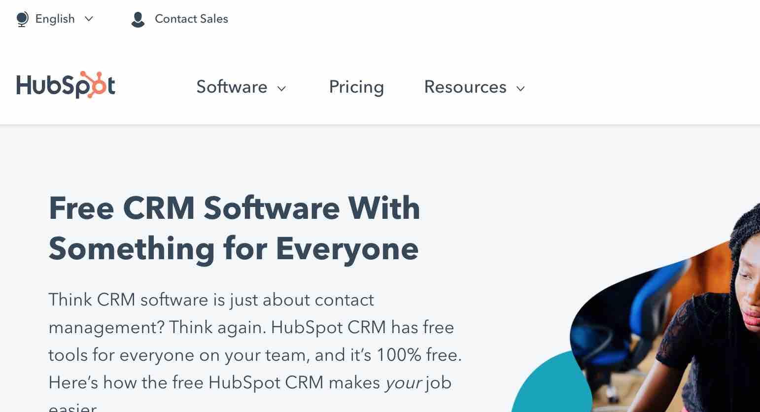 Free CRM Software Hubspot CRM