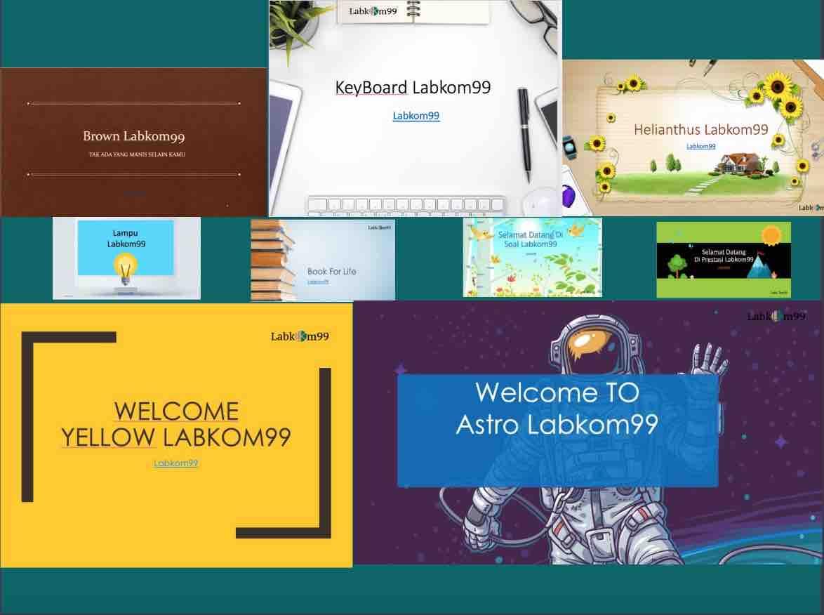 Template PPT Simple Keren Untuk Presentasi Anak Sekolah